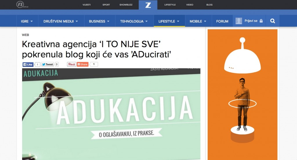 I TO NIJE SVE! starts ADucation blog and ZIMO has something to say about it