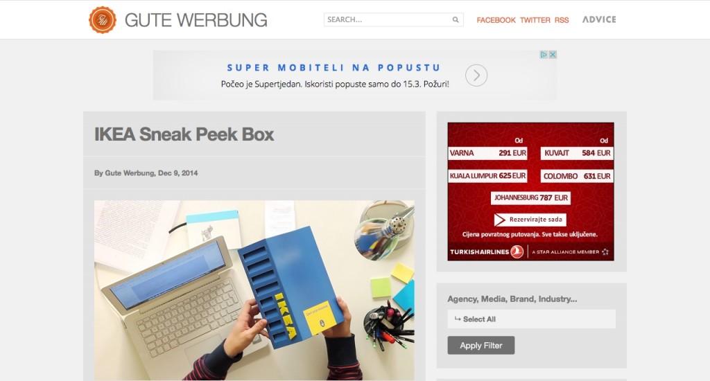 We like Gutewerbung.net and they like our IKEA Sneak Peek Box
